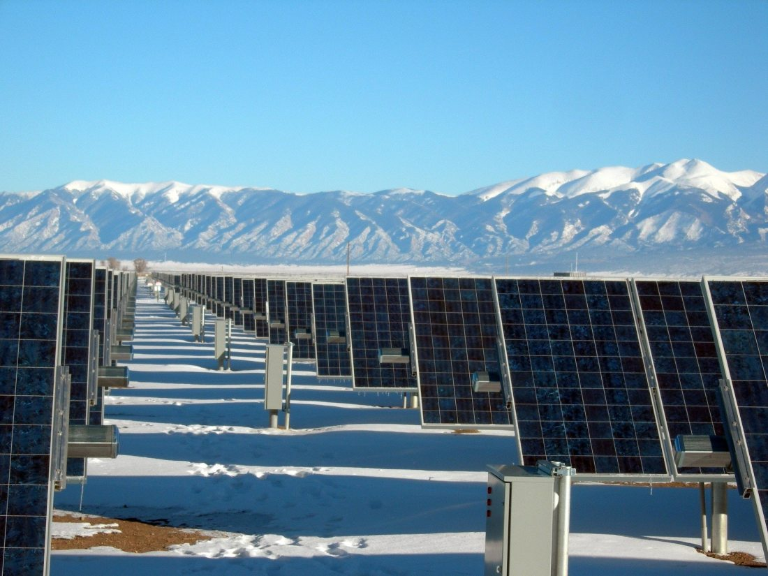 silver-and-black-solar-panels-on-snow-covered-ground-159160